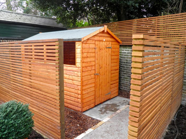 The Garden Design Factory Shed and Fencing